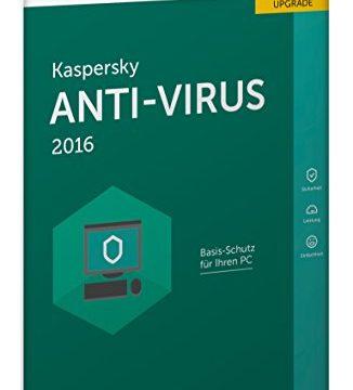 1 PC / 1 Jahr Lizenzkarte Frustfreie Verpackung – Kaspersky Anti-Virus 2016 Upgrade