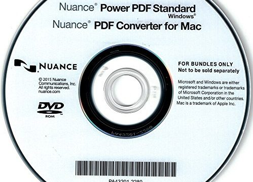 Vollversion – WINDOWS – OEM – Nuance Power PDF Standard DEUTSCH – DVD inkl. PDF Converter for MAC