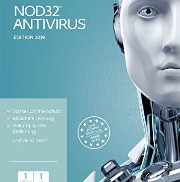 ESET NOD32 Anivirus 2019 | 1 User | 1 Jahr Virenschutz | Windows 10, 8, 7 und Vista | Frustfreie Verpackung
