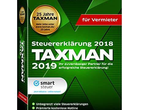 Lexware Taxman 2019 Minibox für Vermieter Übersichtliche Steuererklärungssoftware für Vermieter Kompatibel mit Windows 7 oder aktueller