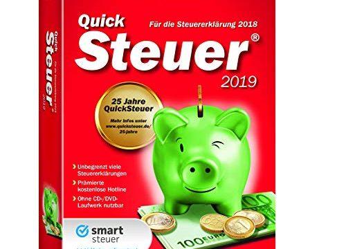 Lexware QuickSteuer 2019 in frustfreier Verpackung Einfache und schnelle Steuererklärungs-Software für Arbeitnehmer, Familien, Vermieter, Studenten und Rentner Kompatibel mit Windows 7 o. aktueller