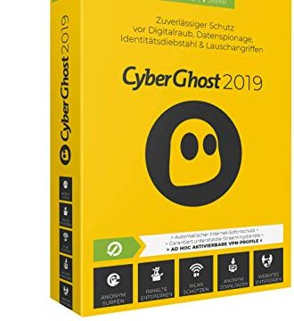 Cyberghost 2019 – 3 PCs / 1 Jahr|2019|3 PCs / 1 Jahr|12 Monate|PC, Laptop, Tablet, Handy|Disc|Disc