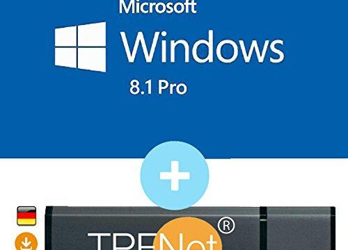 TPFNet® – Microsoft® Windows 8.1 Pro ISO USB. 32 bit & 64 bit – Original Lizenzschlüssel mit bootfähigen USB Stick von