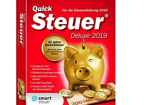 Lexware QuickSteuer Deluxe 2019|in frustfreier Verpackung|Einfache und schnelle Steuer-Software für die private und gewerbliche Steuererklärung|Kompatibel mit Windows 7 oder aktueller