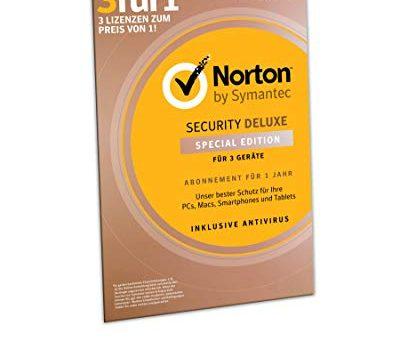 Norton Security Deluxe 2019 | Schutz für 3 Geräte für 1 Jahr | PC/MAC/AndroidDownload