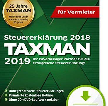 TAXMAN 2019 fuer Vermieter | Standard | PC | PC Aktivierungscode per Email