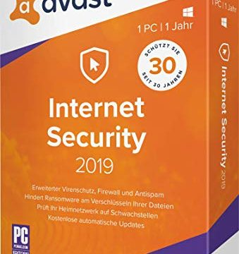 1 PC / 1 Jahr|2019|1 PC / 1 Jahr|12 Monate|PC, Laptop|Download|Download – AVAST Internet Security 2019