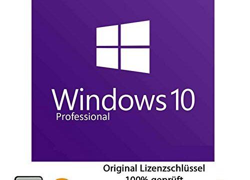 Microsoft® Windows 10 Pro 32 bit & 64 bit Vollversion Original Lizenzschlüssel per E-Mail und Post + Anleitung von TPFNet – Versand maximal 60Min