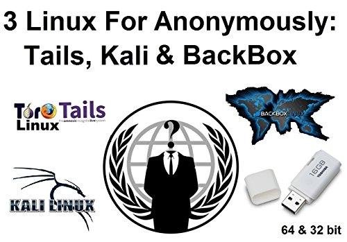 3 Linux-Sammlung für anonymes Durchsuchen Datenschutz: Tails, Kali & BackBox auf einem 16-GB-USB-Speicherstick