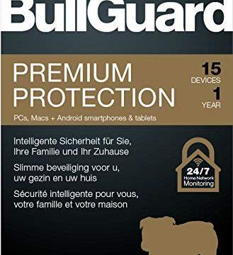 Lizenz für 1 Jahr und 15 Geräte! Windows|MacOS|Android Online Code – Bullguard Premium Protection 2019