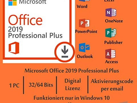 Microsoft Office 2019 Professional Plus mit 8 GB USB-Stick – Keyking