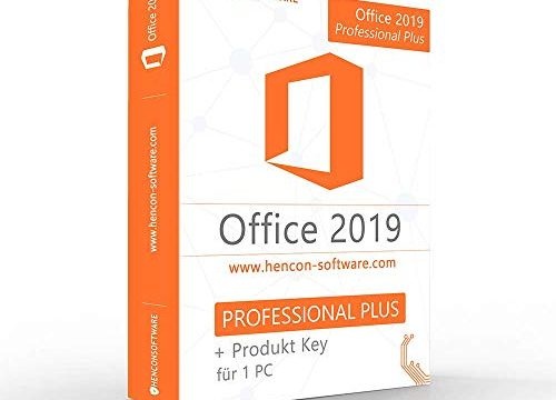 Office 2019 Professional Plus 32 & 64 Bit Vollversion ISO DVD mit orig. Lizenzschlüssel
