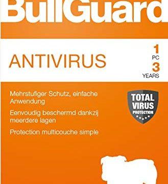 Lizenz für 3 Jahre und 1 PC! Windows 10|8.1|8|7|Vista Online Code – Bullguard Antivirus 2019