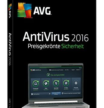 AVG AntiVirus 2016 1-Platz CD-ROM Windows 10 / Windows 8 / Windows 7 / Windows Vista / Windows XP SP3 DVD-Box
