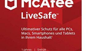 McAfee Live Safe 2018 für eine unbegrenzte Anzahl an Geräten   1 Jahr   PC/Mac/Smartphone/Tablet Online Code Online Code