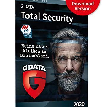 G DATA Total Security 2020 | 5 Geräte – 1 Jahr, Download, Aktivierungscode per Email | PC, Apple Mac, Android, iOS | Made in Germany