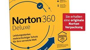 Norton 360 Deluxe 2020, 5-Geräte, 1-Jahres-Abonnement mit Automatischer Verlängerung, Secure VPN und Passwort-Manager, PC/Mac/Android/iOS, FFP, Download