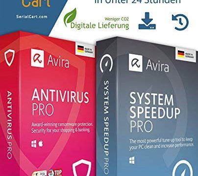 Avira Antivirus Pro + Avira System Speed up Pro 2020 | 1 Gerät / 1 Jahr | von SerialCart