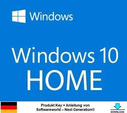 Next Generation® – Windows 10 Home 32 bit & 64 bit Vollversion Aktivierungsschlüssel + Anleitung von Softwareworld