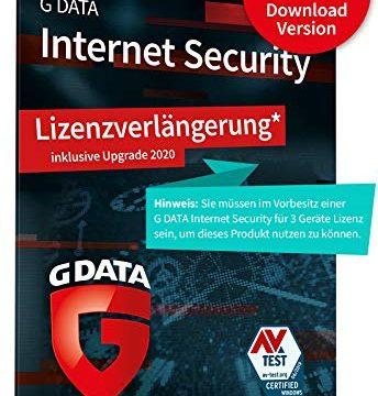 1 Jahr, Digitaler Code | PC, Mac, Android, iOS Virenschutz – G DATA Internet Security 2020 Upgrade/Lizenzverlängerung | 3 x Geräte
