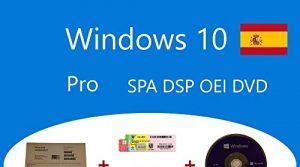 Windows 10 Pro OEM FQC-08981 Spanisch DSP OEI OEM DVD + Holographischer Aufkleber Clanto Pack