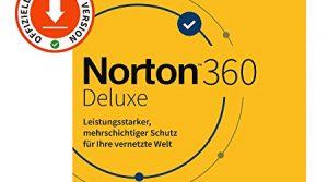 Norton 360 Deluxe 2020, 5-Geräte, Antivirus, Secure VPN unlimited, Passwort-Manager, PC/Mac/Android/iOS, Aktivierungscode per Email