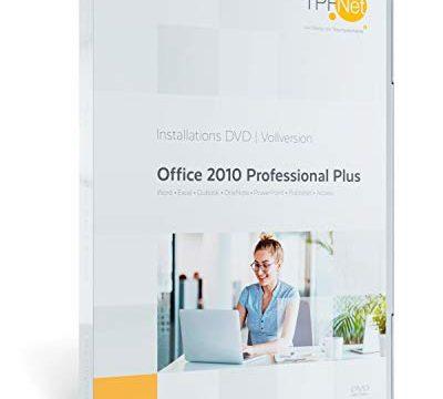 Original Lizenzschlüssel – MS Office 2010 Professional 32 bit & 64 bit Vollversion – mit DVD + Anleitung von TPFNet®