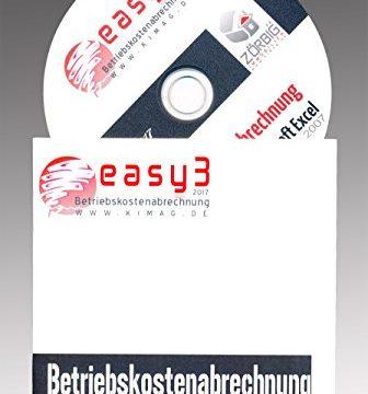 Betriebskostenabrechnung / Nebenkostenabrechnung Software in Excel. DAS ORIGINAL! Alle Jahre, holen Sie sich Ihr Geld zurück! – Easy3