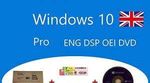 Windows 10 Pro OEM FQC-08929 Englisch DSP OEI OEM DVD + Holographischer Aufkleber Clanto Pack