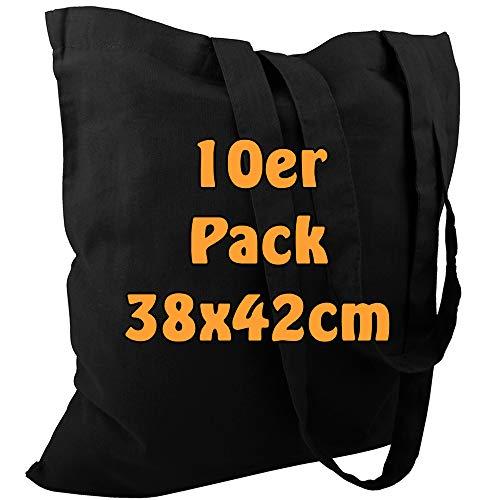 Top 8 Jutebeutel schwarz lange Henkel – Einkaufstaschen