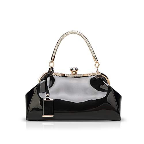 Top 8 Handtasche lack Schwarz – Damen-Schultertaschen