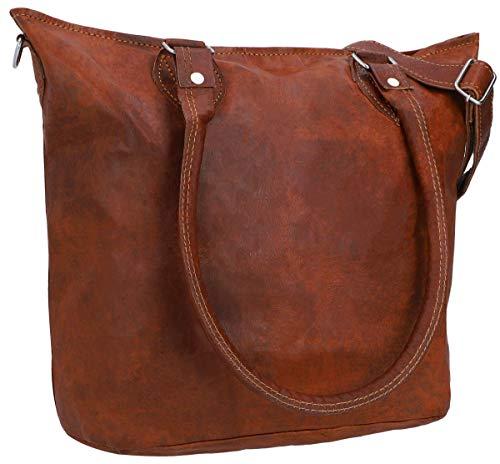 Top 10 Umhängetasche Damen Leder groß Braun – Damen-Schultertaschen