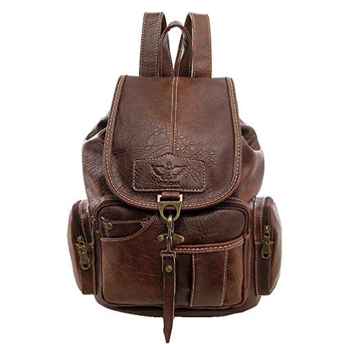 Top 10 Brauner Rucksack Damen Vintage – Damen-Rucksackhandtaschen